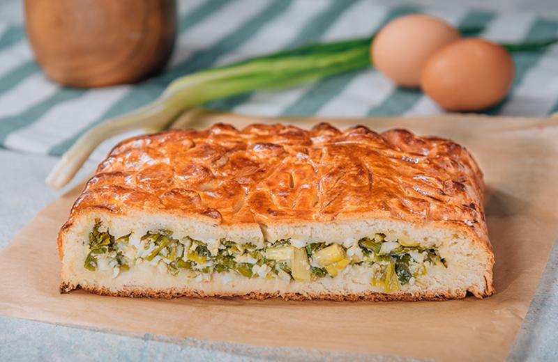 Заказ пирог с зел. луком и яйцом 1 кг